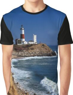 Montauk Point Lighthouse, Long Island, New York Graphic T-Shirt