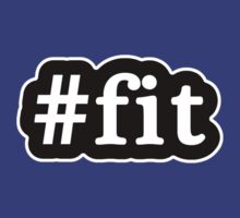 Fit - Hashtag - Black & White by graphix
