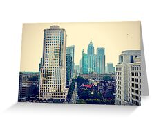Hazy Lazy Sunday in Atlanta, Ga. Greeting Card