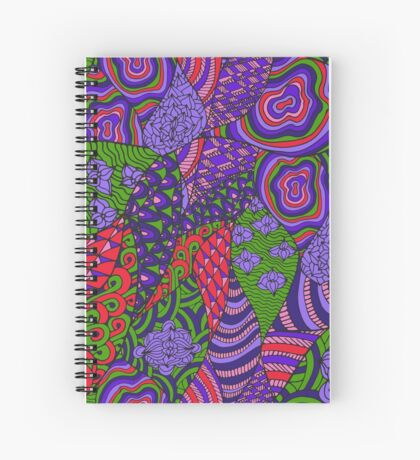 60s hippie abstract print Spiral Notebook
