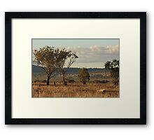 Somerton Sunset.  Somerton (near Tamworth) NSW Framed Print