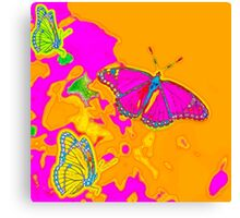 Psychedelic Butterflies  Canvas Print