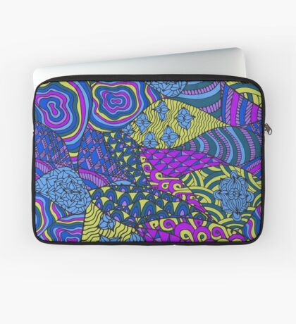 Colorful abstract psychedelic art Laptop Sleeve