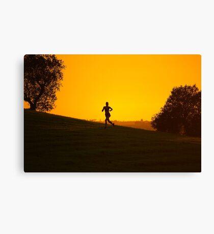 Running Sunset Canvas Print