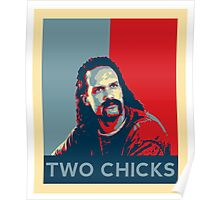 Men's Office Space Neighbor Lawrence - Two Chicks Same Time  Poster