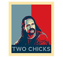 Men's Office Space Neighbor Lawrence - Two Chicks Same Time  Photographic Print