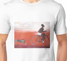 Bicycle African dog chase Unisex T-Shirt
