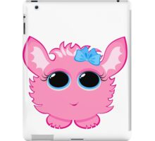 Cute  creature with a bow on its head iPad Case/Skin