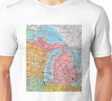 Vintage 1939 Michigan map - meaningful gift idea Unisex T-Shirt