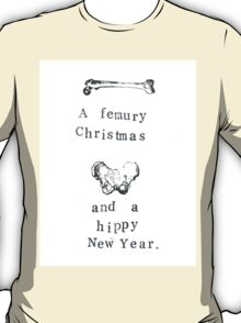 A Femury Christmas And Hippy New Year T-Shirt