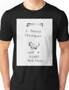 A Femury Christmas And Hippy New Year Unisex T-Shirt