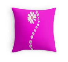 Daisy flowers in pink Throw Pillow