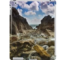 Stoney Cove Below Lydstep Head,Pembrokeshire iPad Case/Skin