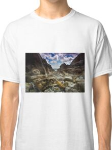 Stoney Cove Below Lydstep Head,Pembrokeshire Classic T-Shirt