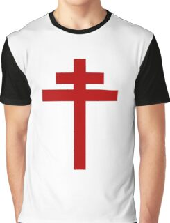 cross of Lorraine - Knights Templar - Holy Grail - Joan of Arch - The Crusades Graphic T-Shirt