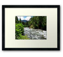 Canoe Break along the  Malheur River, Oregon Framed Print