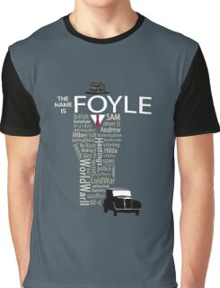 Foyle's War Typography Graphic T-Shirt