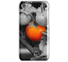 Macro photo of cherry tomatoes in an English garden - Black and White iPhone Case/Skin