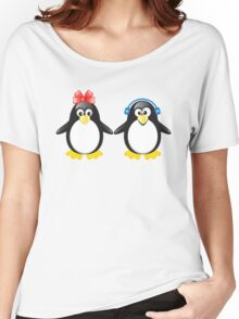 Pair of cute penguins Women's Relaxed Fit T-Shirt