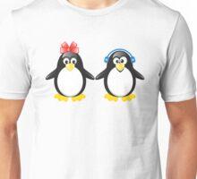 Pair of cute penguins Unisex T-Shirt