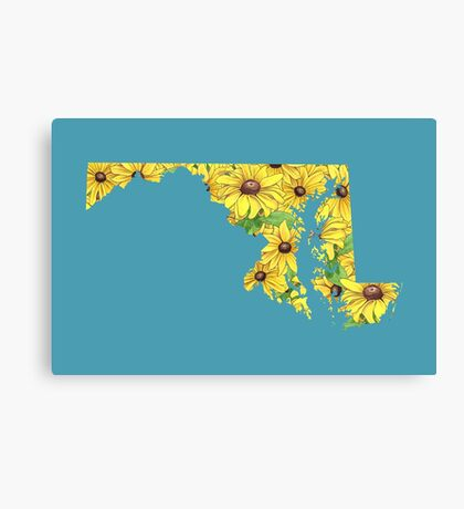 Maryland Flowers Canvas Print