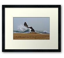 Sea, Rock,Sand.Philosophical erosion.. Framed Print