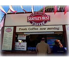 'Seattle's Best' Coffee  in Dawlish Photographic Print