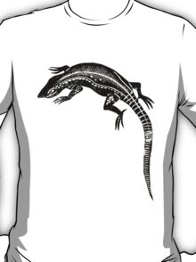 Common Lizard Lino Print T-Shirt