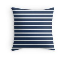 Blue and white stripes Throw Pillow