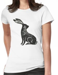 Hare Lino Print Womens Fitted T-Shirt