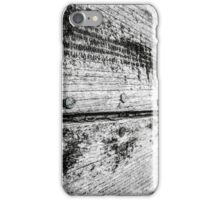 Close-up of an abandoned fishing boat on Dungeness beach, Kent - Black and White iPhone Case/Skin