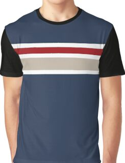 Navy blue with two stripes Graphic T-Shirt