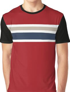 Red with two stripes Graphic T-Shirt