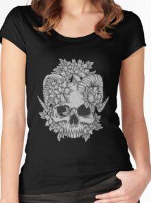 Japanese Skull T-shirt femme moulant à col profond