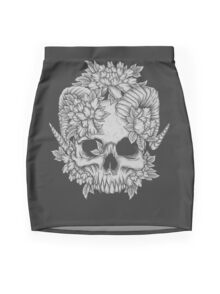 Japanese Skull Mini Skirt