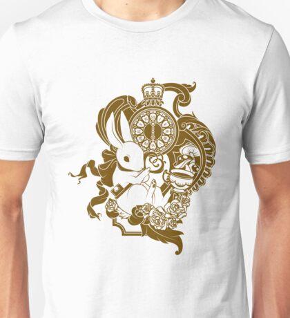 White Rabbit in Brown Unisex T-Shirt
