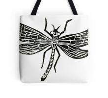 Dragonfly Insect Lino Print Tote Bag