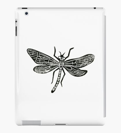 Dragonfly Insect Lino Print iPad Case/Skin