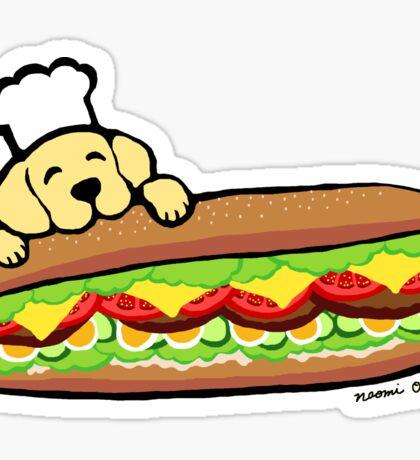 Yellow Labrador Bakery Sticker