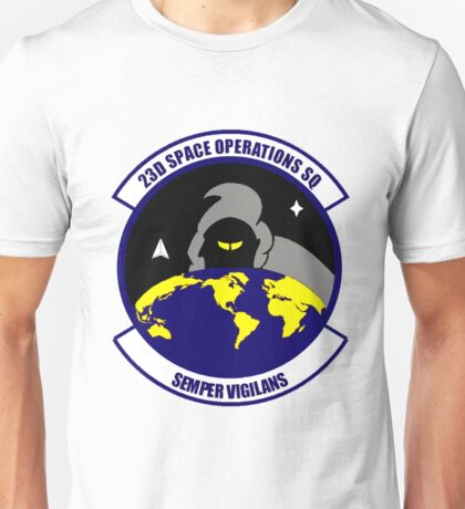 23rd Space Operations Squadron (23 SOPS) Crest Unisex T-Shirt