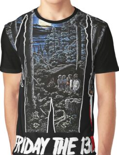 Friday the 13th Movie Poster Graphic T-Shirt