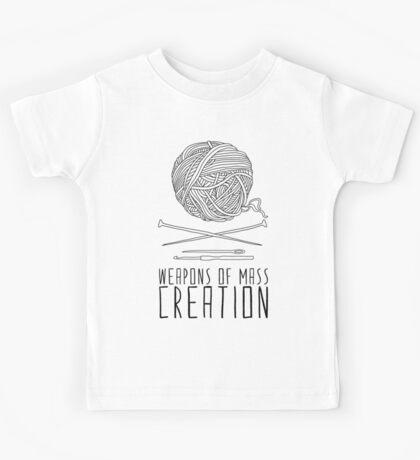 Weapons Of Mass Creation - Knitting Kids Tee