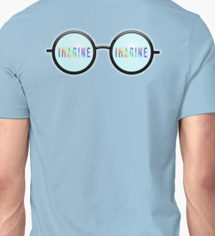 Imagine, Psychedelic, Round, Glasses, Unisex T-Shirt