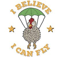 Chicken Believes It Can Fly Photographic Print