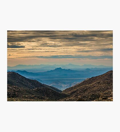 Desert Landscape at Sunset Photographic Print