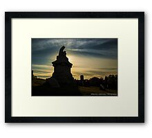 Pittsburgh Cemetery at Sunset (1) Framed Print