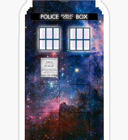 Space Tardis 1 Sticker