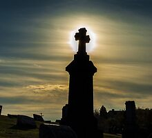 Pittsburgh Cemetery at Sunset (2) by BLaskowsky