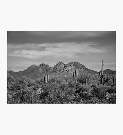 Four Peaks Black and White Photographic Print