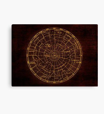 Constellation Map - Star Chart Canvas Print